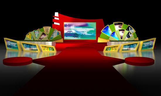 2102世界旅游形象大使总决赛现场设计图---3d效果